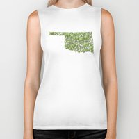 oklahoma Biker Tanks featuring Oklahoma in Flowers by Ursula Rodgers