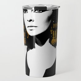 black & gold Cleo Travel Mug