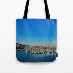 The Boats of Howth Harbor Tote Bag