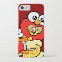 elmo iPhone & iPod Cases featuring Baby Elmo & Dorothy by BinaryGod.com