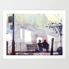 New York - Douce lumiere Art Print