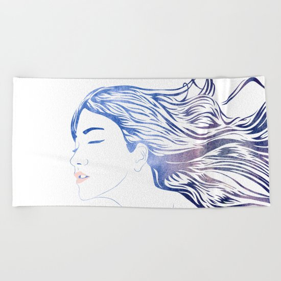 Water Nymph LVII Beach Towel