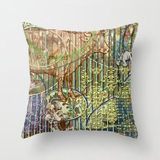 Driving Out Miss Martineau Throw Pillow