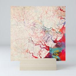 Scottsdale map Arizona painting Mini Art Print
