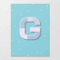 G is for Glamorous Canvas Print