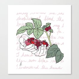 Picking the Fruit Poetry Illustration Canvas Print
