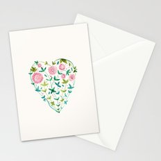 garden heart Stationery Cards