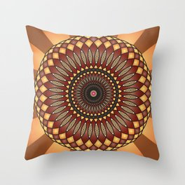 Inspiration Mandala - מנדלה השראה Throw Pillow