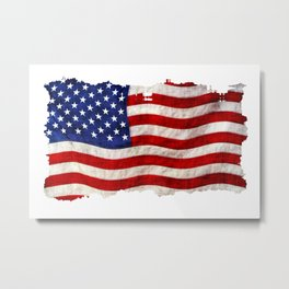 The US Flag Metal Print