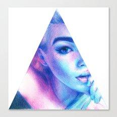 Technicolor Triangle Sh*t Canvas Print