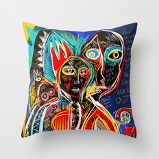 When the mothers talk street art graffiti Throw Pillow