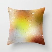 coconut wishes Throw Pillows featuring Wishes  by SensualPatterns