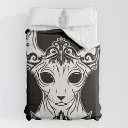 Elven Sphynx Kitten - Magical Elf Sphynx Cat - Hairless Comforters