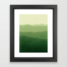 gradient landscape green Framed Art Print