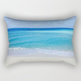 Turquoise and Sand Rectangular Pillow