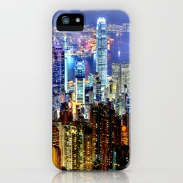 Hong Kong City Skyline iPhone Case
