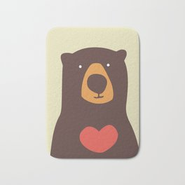 Hearty bear hug Bath Mat