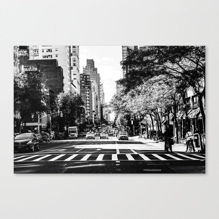 New York City Streets Contrast Leinwanddruck