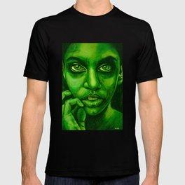 don't panic! green T-shirt