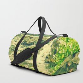 The Waterfall and the Lily Pond Duffle Bag