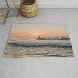 Summer Sunset Surfing Rug