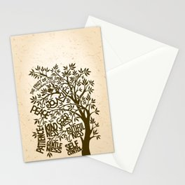 Fruit of the Spirit (Monotone) Stationery Cards