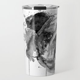 Black And White Half Faced English Bulldog Travel Mug