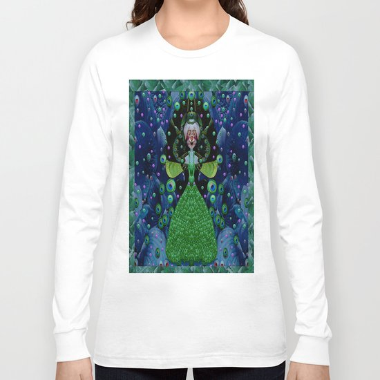 Lady Rabbit  Fantasy happy for her new dress Long Sleeve T-shirt