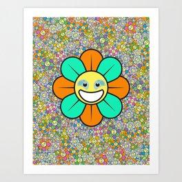 SUPER FLOWER POWER Art Print