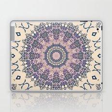 No. 20 Wisteria Arbor Way Regal Purple & Ivory Hugs and Kisses Mandala Laptop & iPad Skin