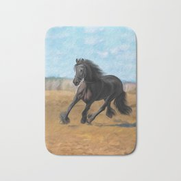 Drawing horse Bath Mat