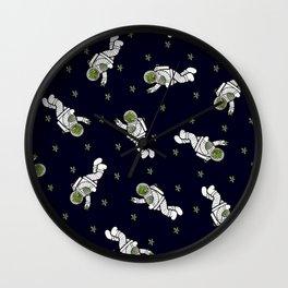 Astro Terrarium Pattern Wall Clock