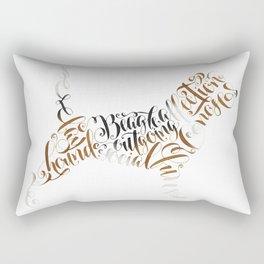 Beagle Memorial, Beagle Portrait, Beagle Calligraphy, Beagle Silhouette Rectangular Pillow