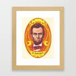 Day-Glo Lincoln Framed Art Print