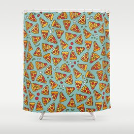 Funny pizza pattern Shower Curtain