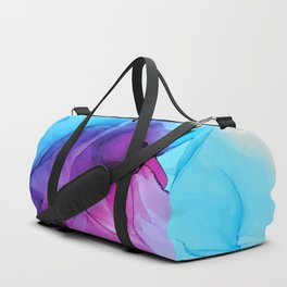 Aqua Pop - Alcohol Ink Painting Duffle Bag