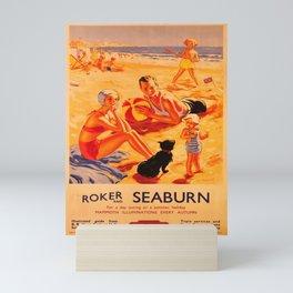 retro iconic Roker and Seaburn poster Mini Art Print