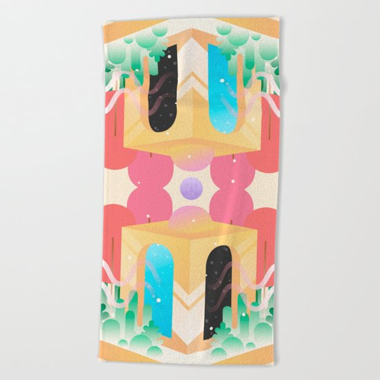 Temple of Time  Beach Towel