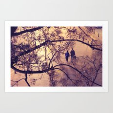 Over the city Art Print