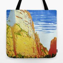 Zion National Park - Vintage Travel Tote Bag