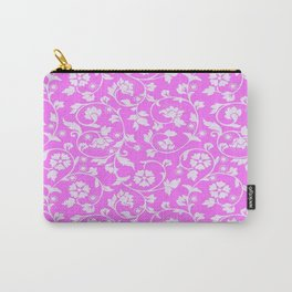 Pretty Pink Floral Pattern Carry-All Pouch