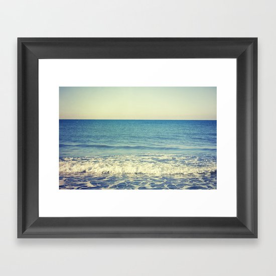 in the arms of the Ocean Framed Art Print