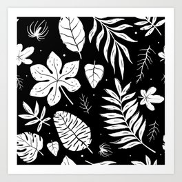 white foliage Art Print