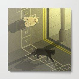 Cat Hopscotch  Metal Print