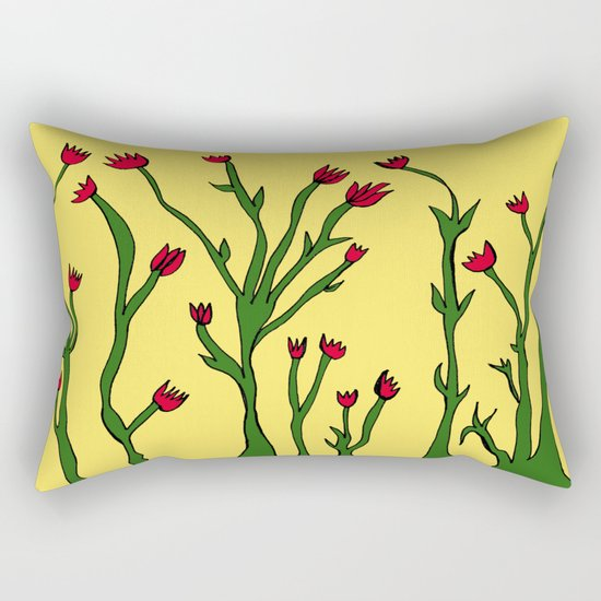 Long flowers Rectangular Pillow
