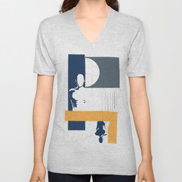 Geometric interactions Unisex V-Neck