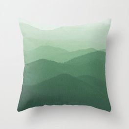 Hunter Mountain summer Throw Pillow