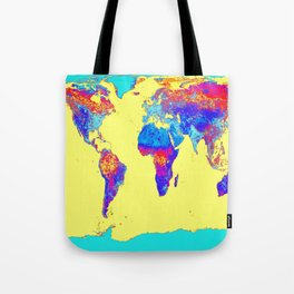 world mAP Colorful Tote Bag