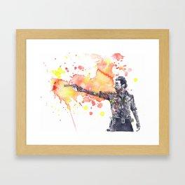 Portrait of Rick Grimes from The Walking Dead Framed Art Print