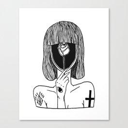 A GIRL TATTOO Canvas Print